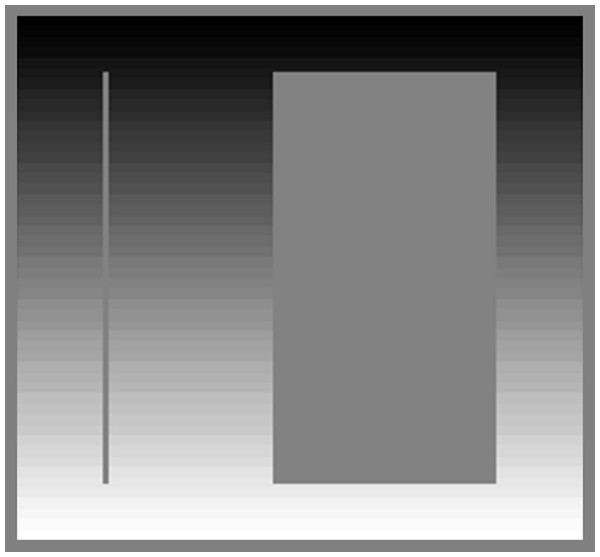 Effect of stimulus width on simultaneous contrast.