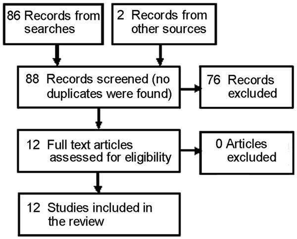 PRISMA flow diagram for included studies.