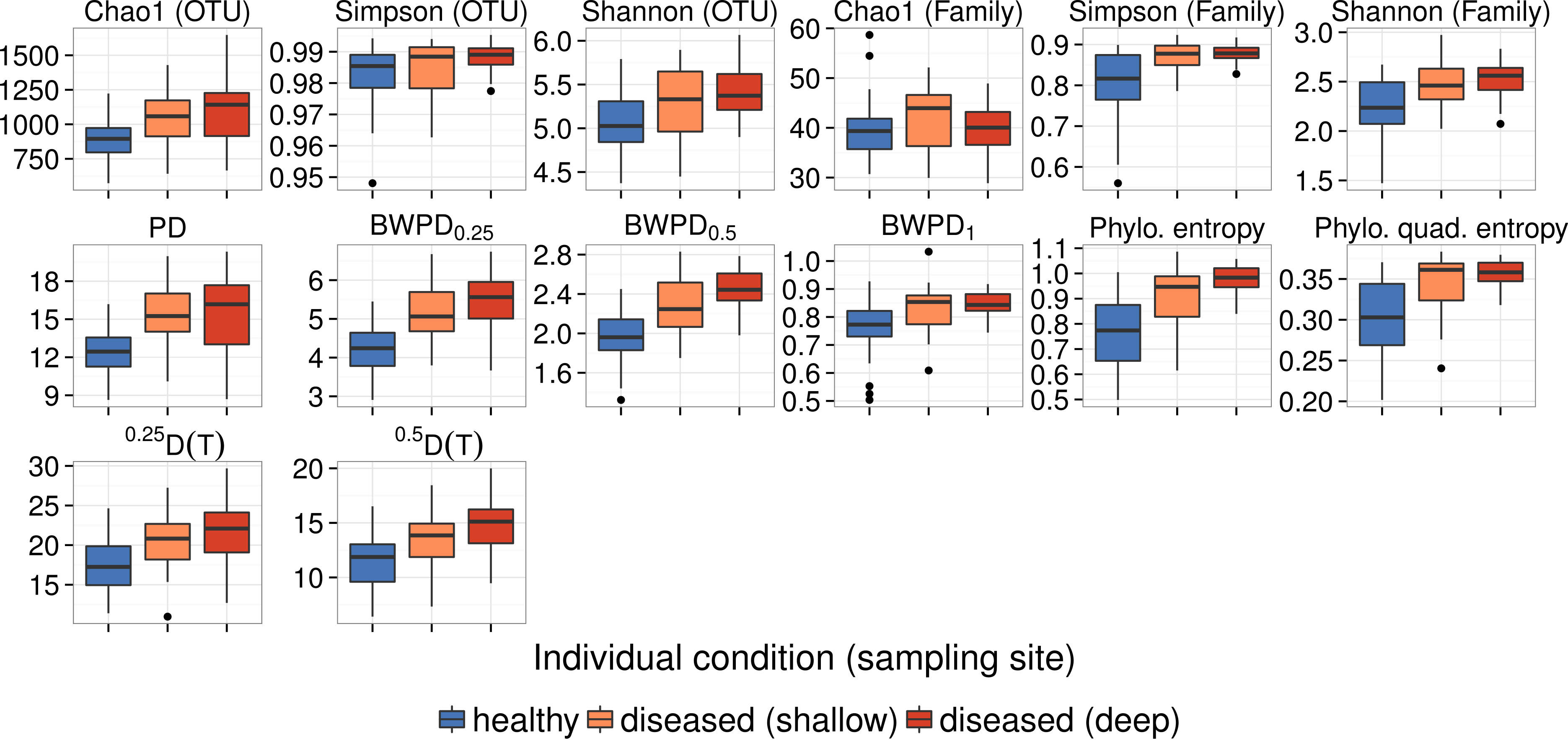 Abundance-weighted phylogenetic diversity measures