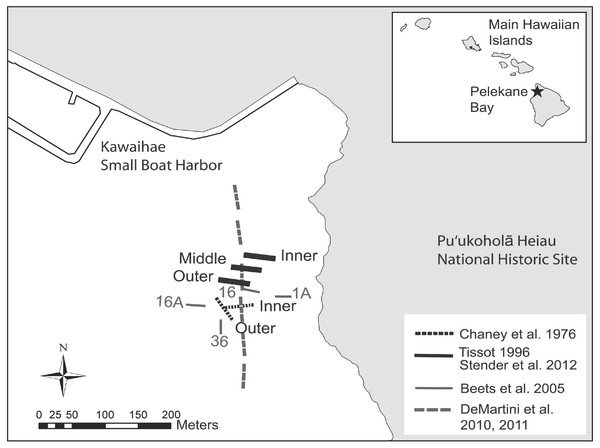Map of historical and present survey locations.