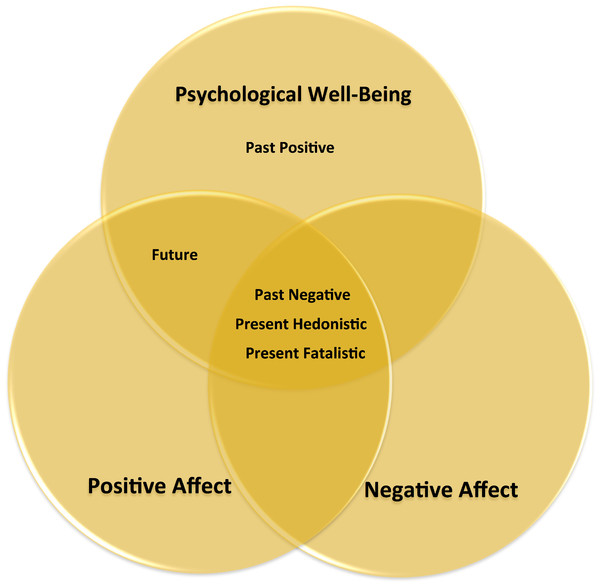 Summary of the results with regard to the relationships between the different time perspectives, psychological well-being, and affect.