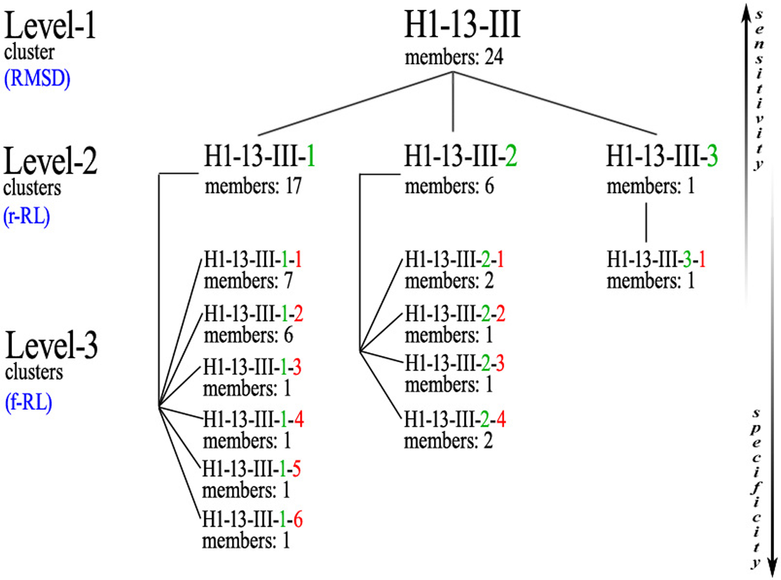 A complete, multi-level conformational clustering of