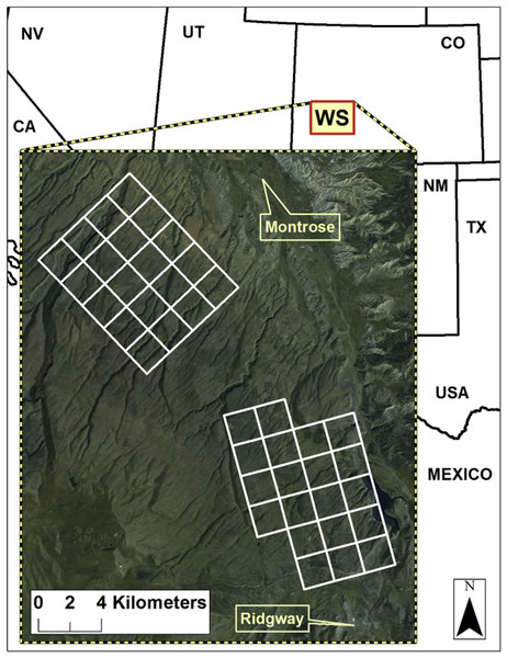 Location of the study site on the Western Slope, Colorado, USA.