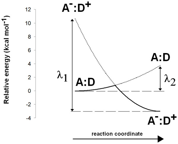 Computation of electron transfer activation energies.
