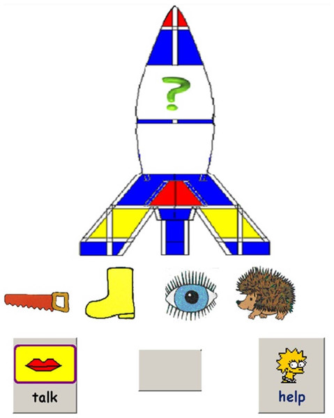 Sample screenshot from comprehension training program.