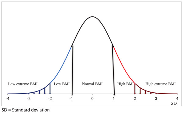 Graphical presentation of BMI categories.