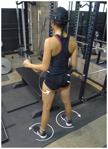 Standing glute squeeze.