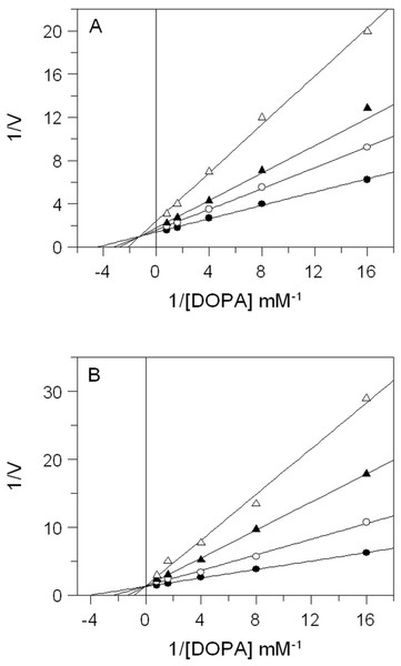 Inhibition of tyrosinase activity by E. characias leaves extracts.