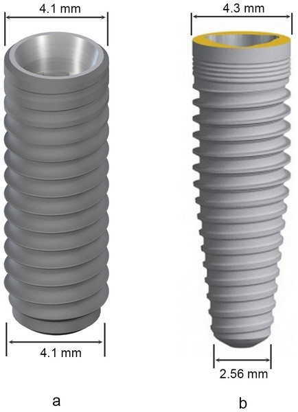 Features of the selected implants.