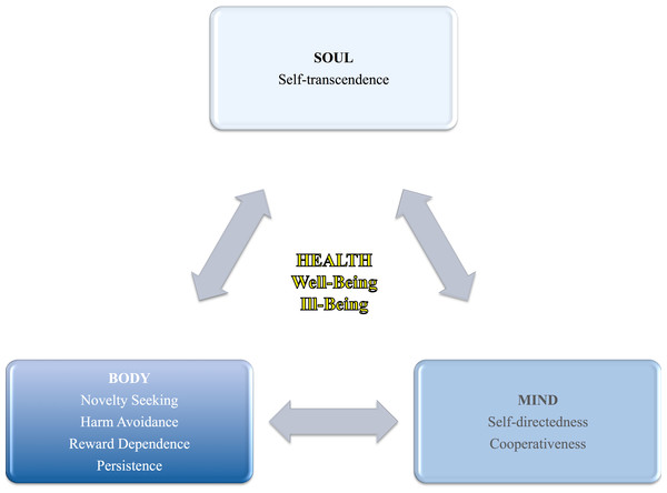 Health (i.e., well-being and ill-being) in relation to personality as a holistic view of the human being (i.e., body, mind, and soul).
