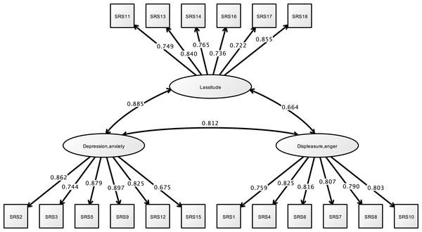 CFA of SRS-18 (study 1).