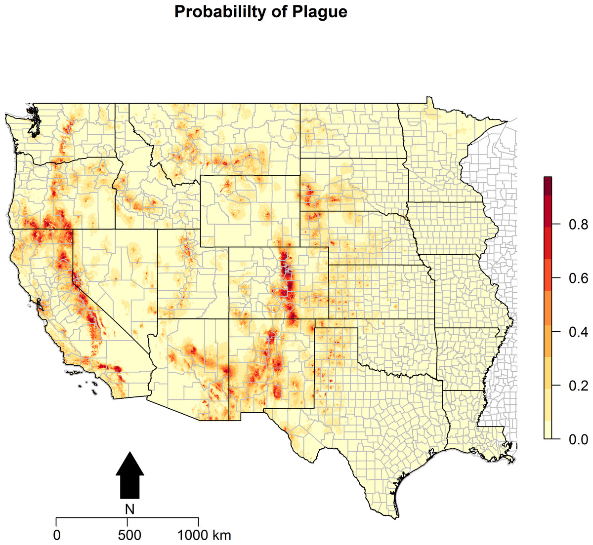 Modeling the ecologic niche of plague in sylvan and domestic animal