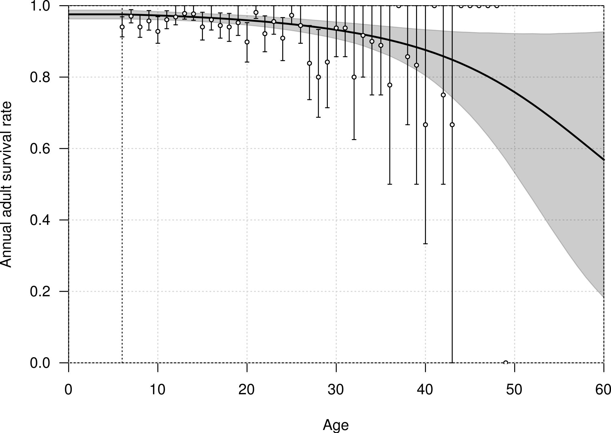 Demographic rates of northern royal albatross at Taiaroa