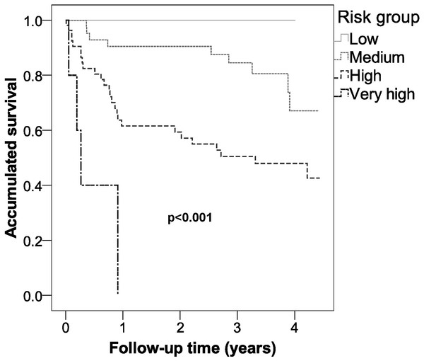 Survival of the different risk groups for cardiovascular disease of type 2 diabetic inpatients in a Spanish region.