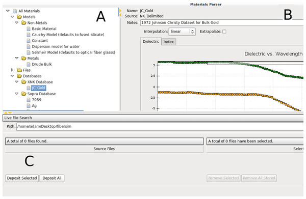 Screenshot of PAME's material adapter.