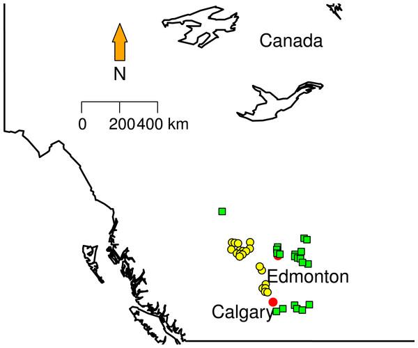 Sampling localities.