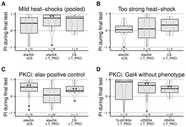 PKC inhibition (achieved by using an effective heat-shock protocol) in neurons, but not central brain regions, prevents self-learning formation.