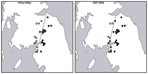 Map of Hydroporus memnonius contact zone.