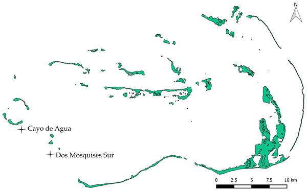 Study sites Dos Mosquises Sur and Cayo de Agua.