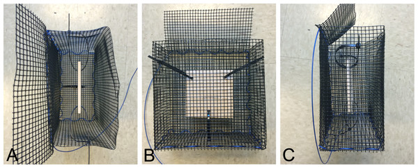 Multiple views of an exclusion cage.