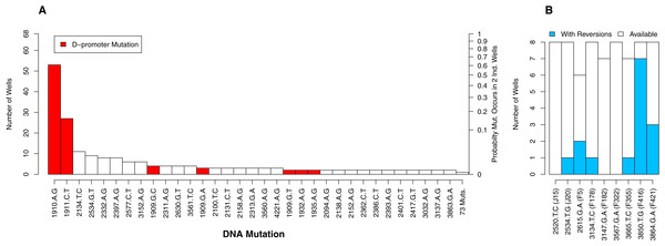 The number of occurrences of each mutation is highly uneven.