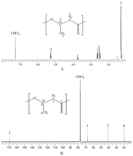 NMR spectrum of polymer produced by N. antarctica.