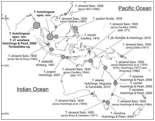 Map of SW Indo-Pacific Ocean.