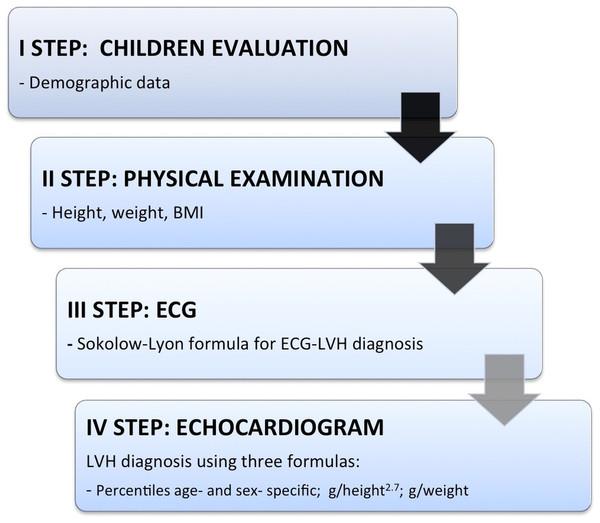Flow-chart of children's evaluation.