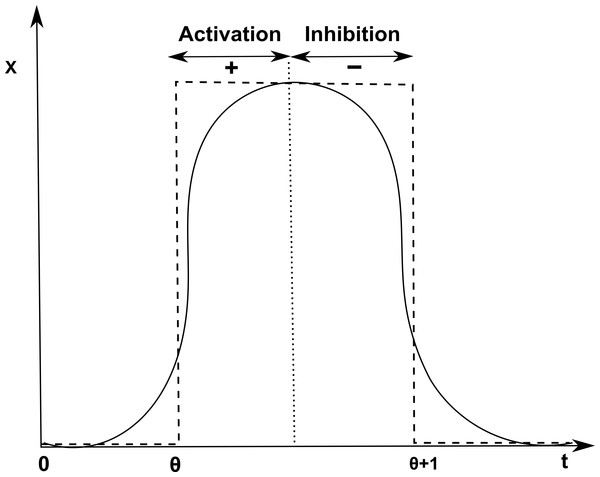 Activation and inhibition of x.