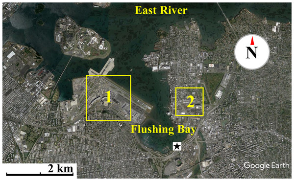 Map of waterfront sampling location.