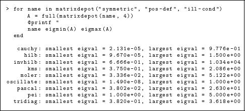 Matrix Depot: an extensible test matrix collection for Julia