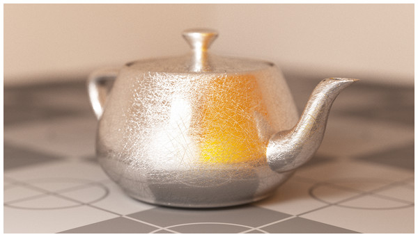Utah teapot mesh used for benchmarks.