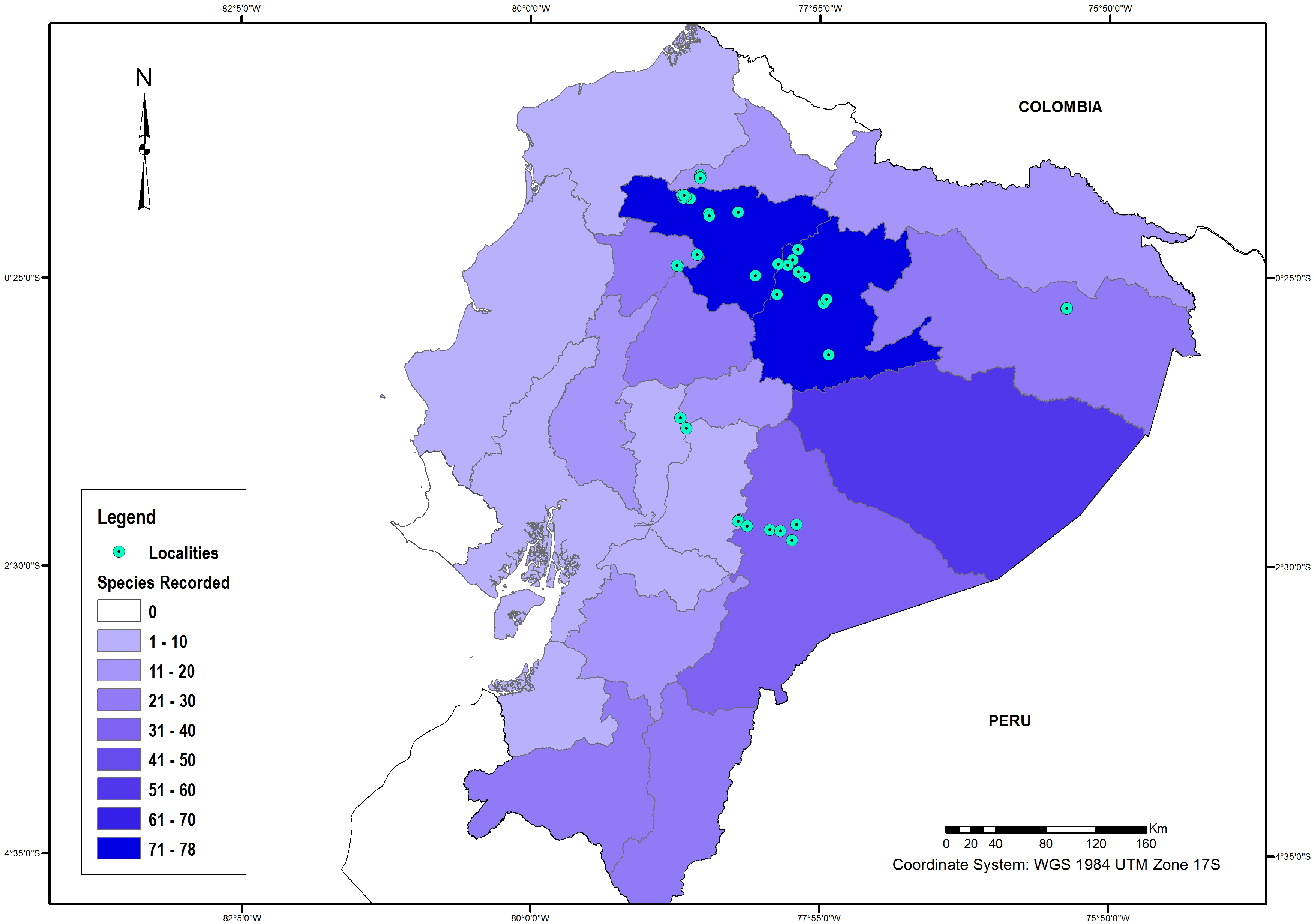 Diversity and distribution of the Caddisflies (Insecta
