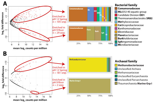 Bacterial and archaeal sequences enriched in ultrabasic springs.