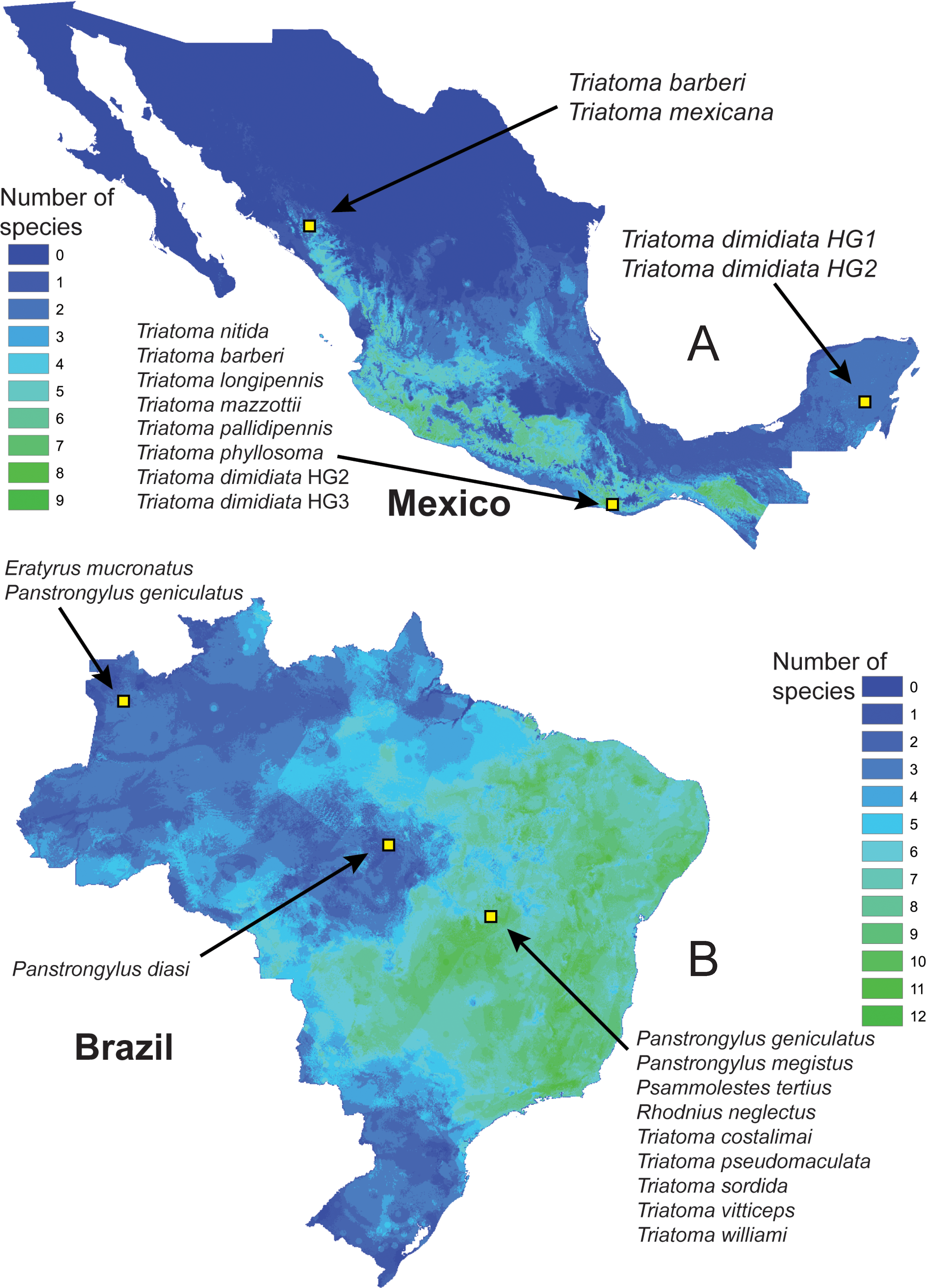 Automated identification of insect vectors of Chagas disease in