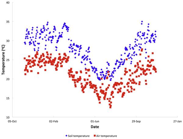 Annual temperature variation.