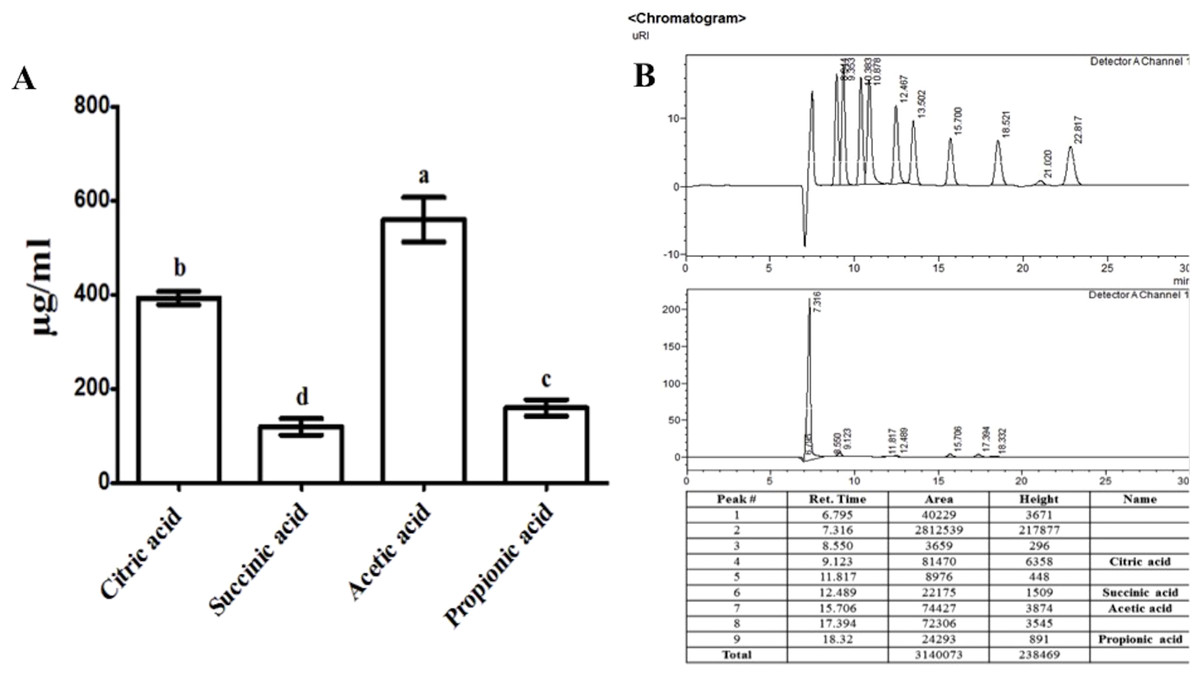 Plant Growth Promoting Endophytic Bacteria Versus Pathogenic Live Line Detector Indicator Circuit Schematic Organic Acid Secretion By B Amyloliquefaciens Rwl 1