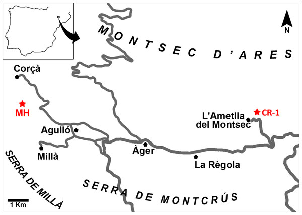 Map of the Àger sub-basin (Southern Pyrenean Basins, NE Spain).