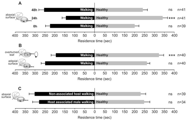 Possible role of bug walking activity in plant volatile induction.