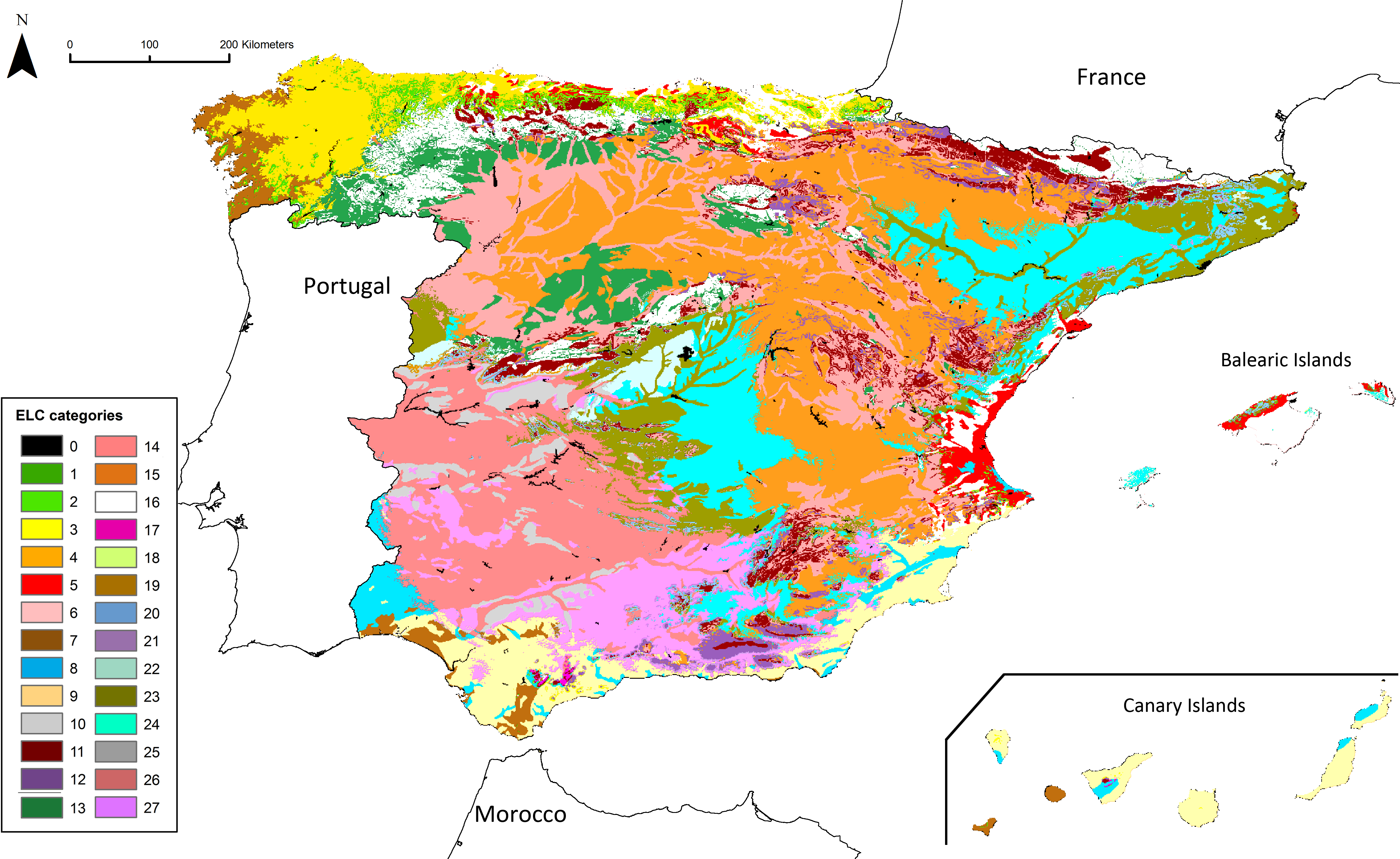 Map Of Tour Of Spain 2017.Identification Of Ecogeographical Gaps In The Spanish Aegilops