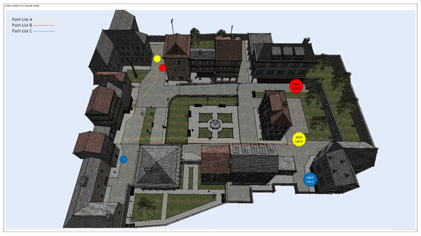 Street map of path lists in the Episodix digital game.