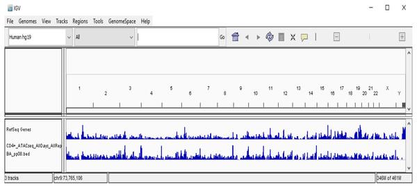 Visualization of CD4+T ATAC-seq samples.