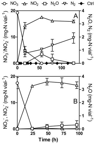 N2O production by Methylophaga nitratireducenticrescens JAM1.