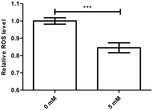 Effect of arbutin on ROS accumulation in C. elegans.