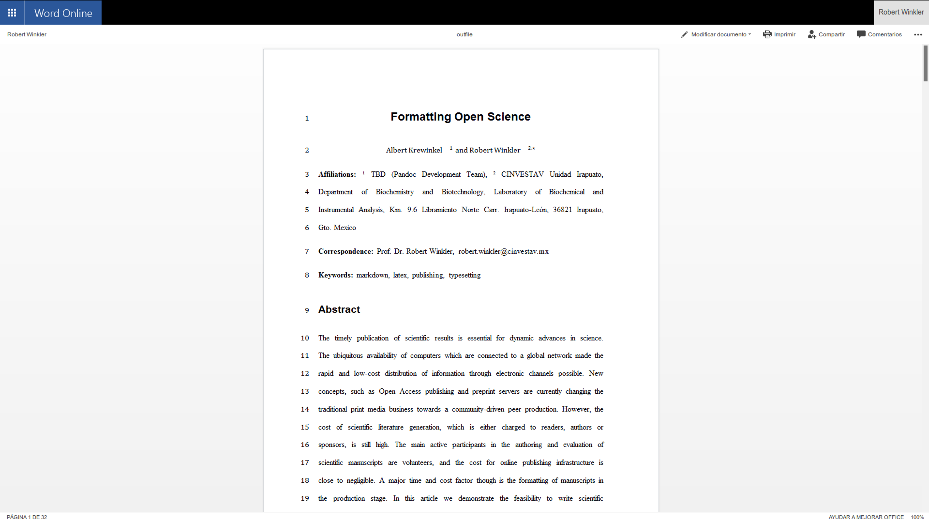 Formatting open science agilely creating multiple for Latex template for springer journals