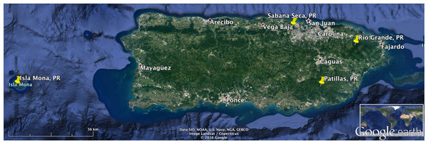 Recording locations in Puerto Rico.