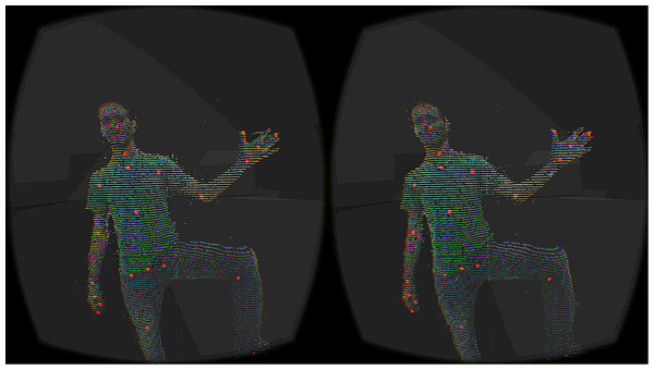 Avatar visualization with point cloud.
