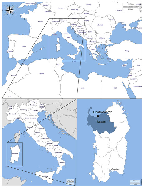 Map of the Mediterranean Basin.