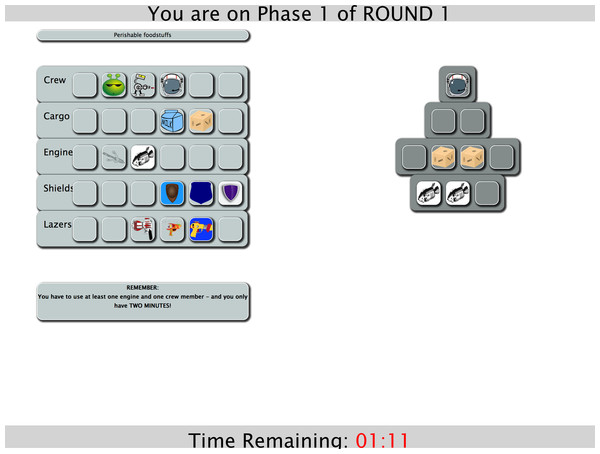 Screenshot of Phase 1.