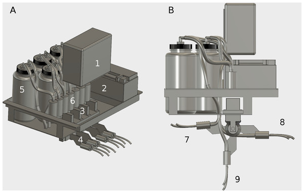 Engineering design of the automated water sampler onboard the USV.